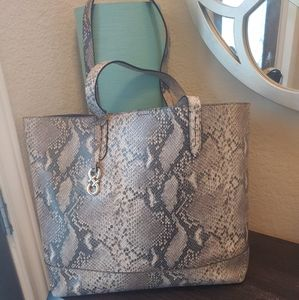 RARE COLE HAAN Snakeskin Large Leather Tote